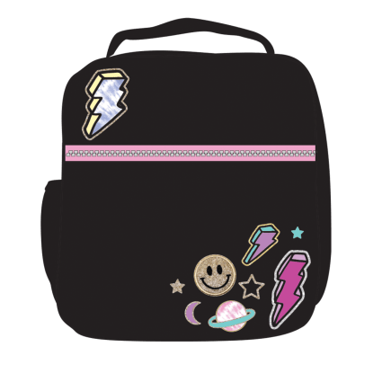 Picture of Lightning Bolt Patches Lunch Tote