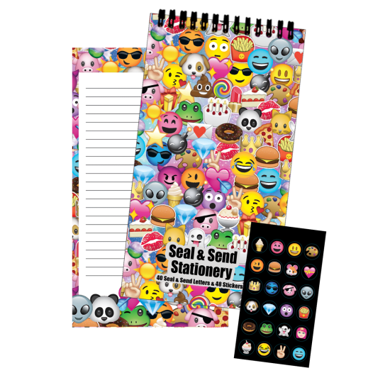 Picture of Emoji Collage Seal & Send Stationery