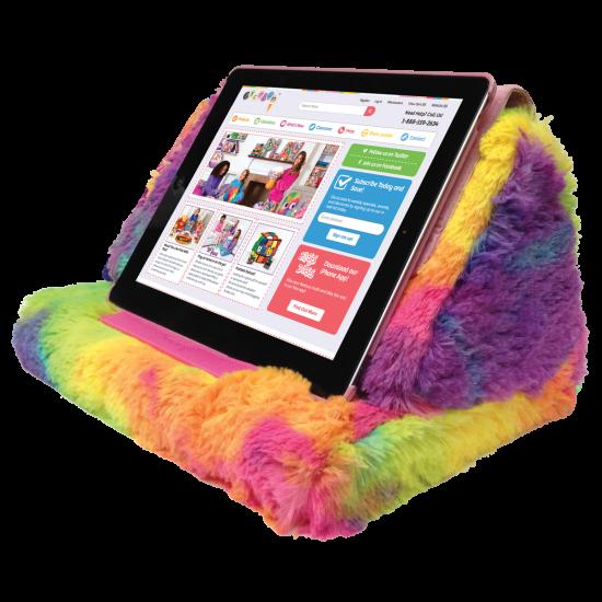 Tie Dye Furry Tablet Pillow Iscream
