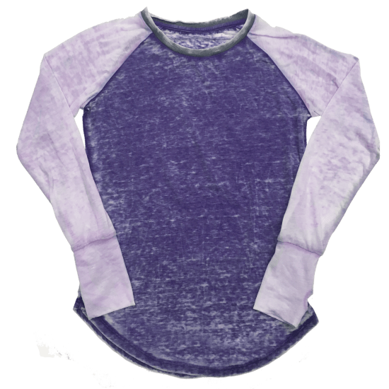 Picture of Burnout Purple/Lavender Baseball Shirt