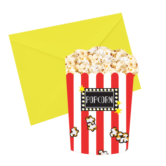 Picture of Popcorn  Scented Notecards