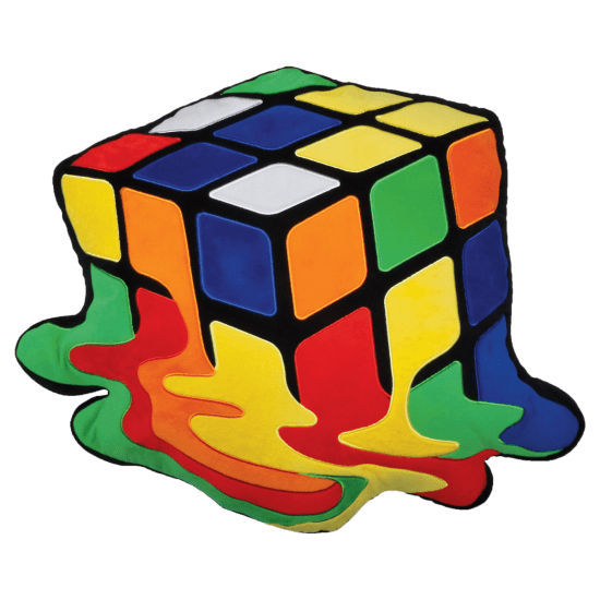 Picture of Melting Rubik's® Cube Embroidered Pillow
