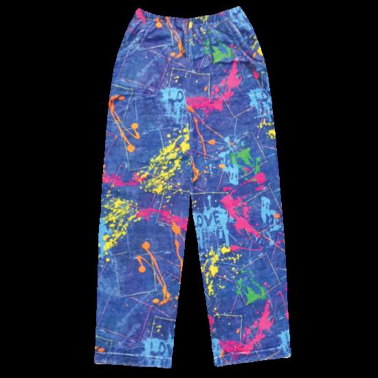 Picture of Paint Splatter Denim Plush Pants