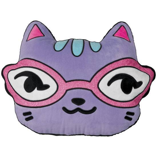 Picture of Cat with Glitter Glasses Scented Embroidered Pillow
