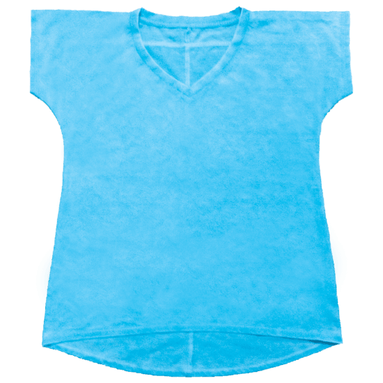Picture of Burnout Turquoise High-Low T-Shirt