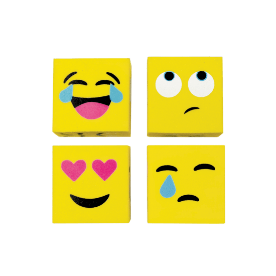 Picture of Emoji Cube 3D Mini Eraser Set