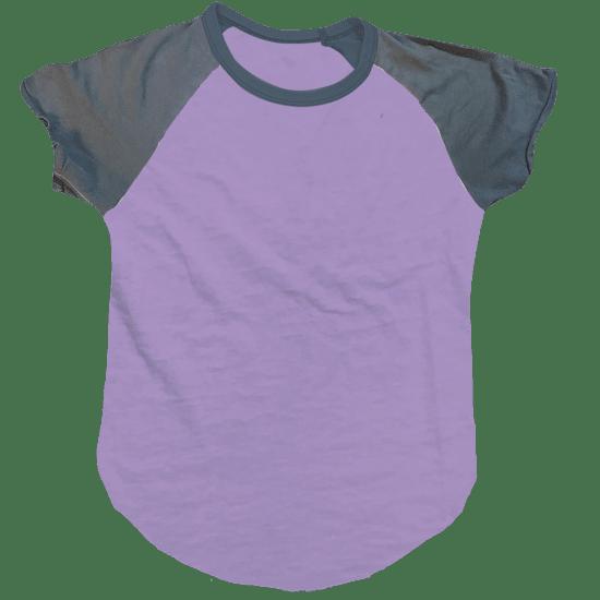 Picture of Burnout Lavender/Purple Baseball T-Shirt
