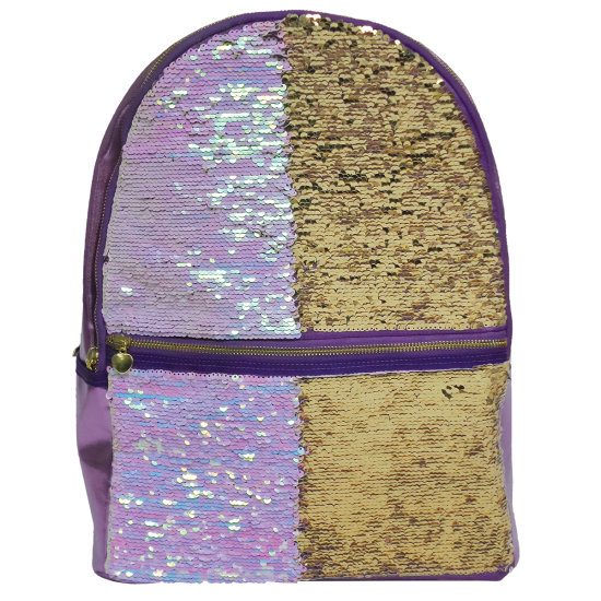 Iridescent Reversible Sequin Backpack
