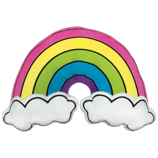 Picture of Rainbow and Clouds Embroidered Pillow
