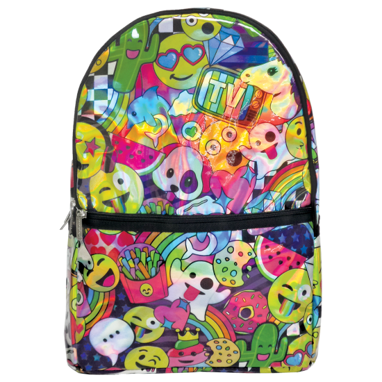 Picture of Emoji Party Holographic Backpack