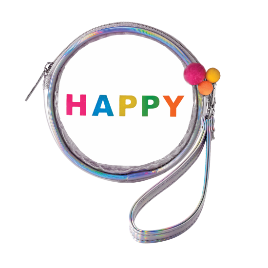 Picture of Happy Pom Pom Clear Purse Key Chain