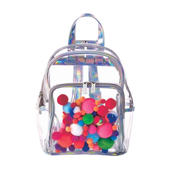Mini Pom Pom Clear Backpack