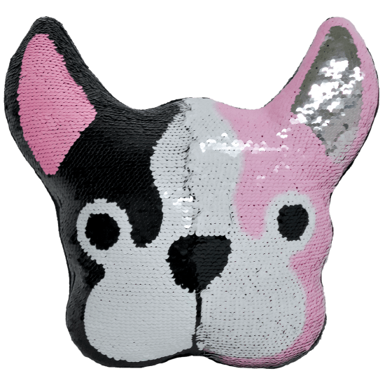 Picture of French Bulldog Reversible Sequin Pillow