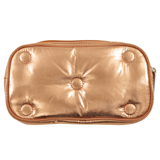 Picture of Copper Tufted Metallic Small Cosmetic Bag