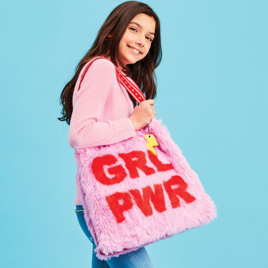 Picture of GRL Power Furry Tote Bag
