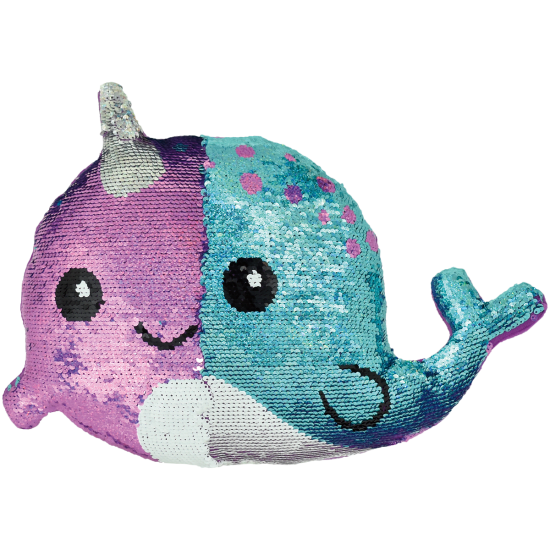 Picture of Narwhal Reversible Sequin Pillow