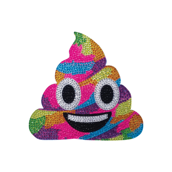 Picture of Rainbow Poop Rhinestone Decal Small