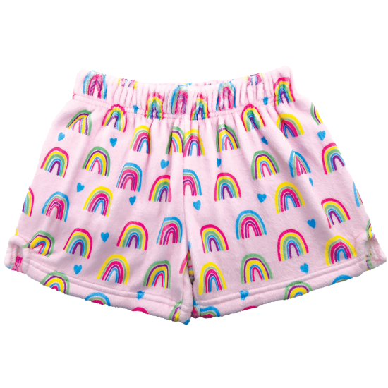 Picture of Rainbows and Hearts Plush Shorts