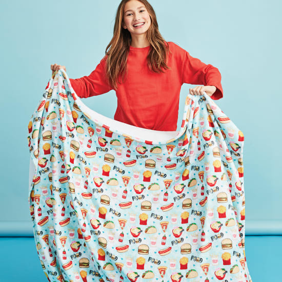 Picture of Junk Food Plush Blanket