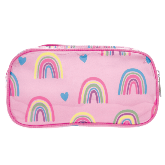 Rainbows and Hearts Small Cosmetic Bag