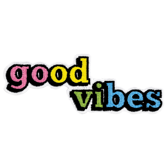 Picture of Good Vibes Embroidered Sticker Patch