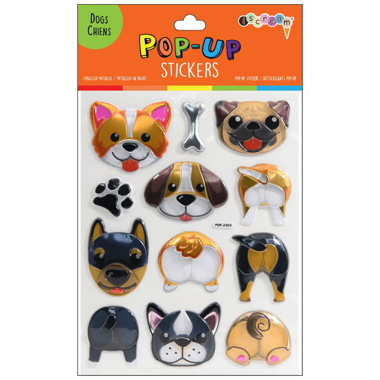 Picture of Dogs Pop-Up Stickers