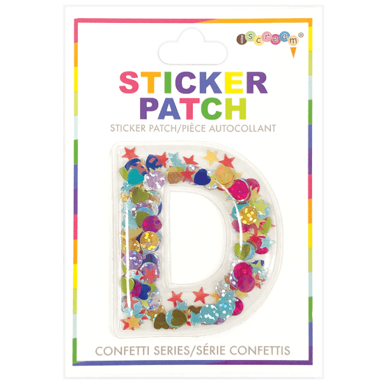 Picture of D Initial Confetti Sticker Patch