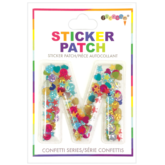 Picture of M Initial Confetti Sticker Patch
