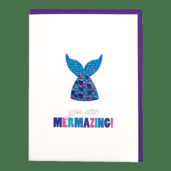 Picture of Mermaid Rhinestone Decal Greeting Card