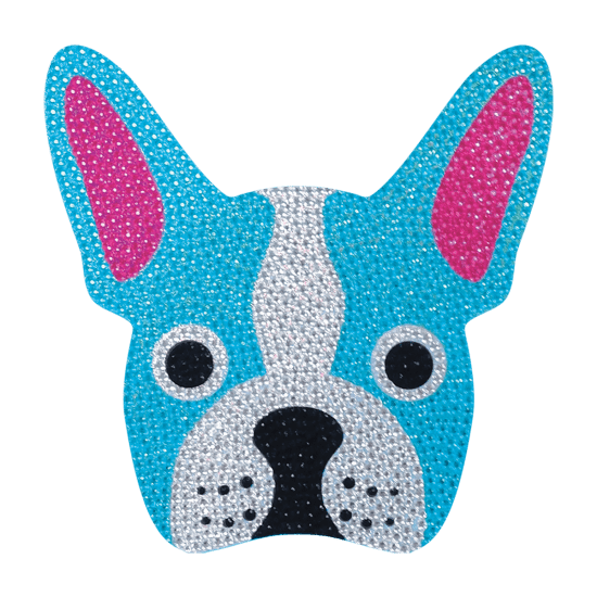 Picture of French Bulldog Rhinestone Decal Large