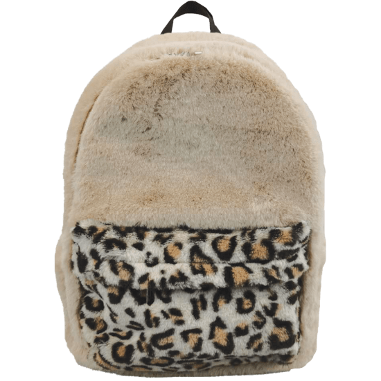 Picture of Classic Leopard Furry Backpack