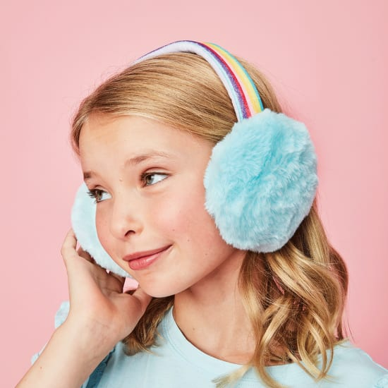 Picture of Rainbow Furry Earmuffs