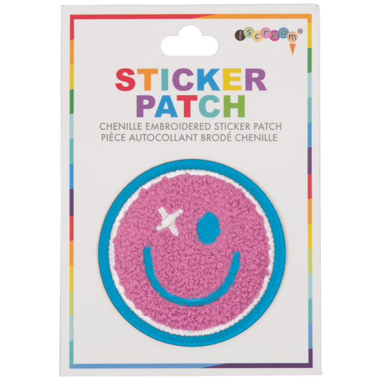 Picture of Happy Face Chenille Embroidered Sticker Patch