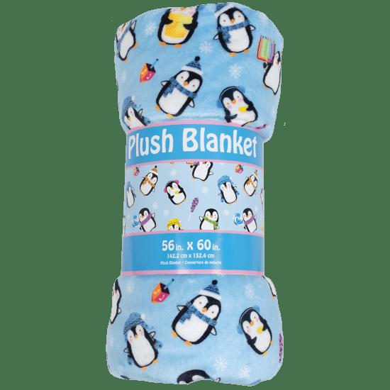 Picture of Hanukkah Penguins Plush Blanket