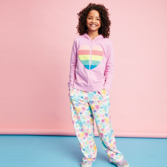 Picture of Pastel Hearts Plush Pants