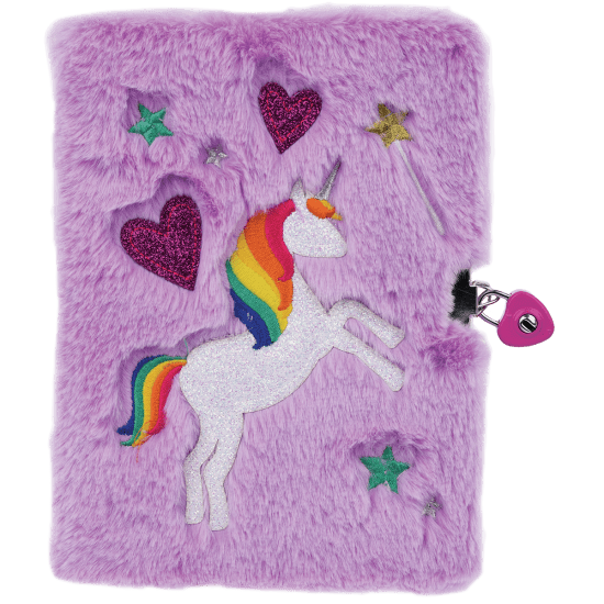 Picture of Magical Unicorn Lock and Key Furry Journal