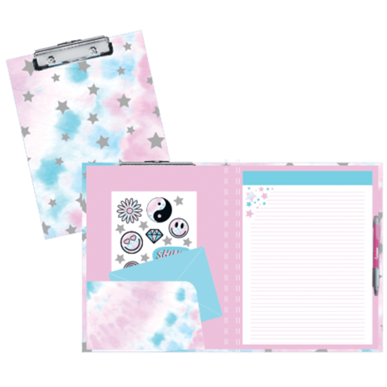 Picture of Silver Star Tie Dye Clipboard Set