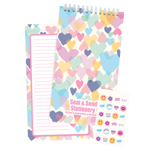 Picture of Pastel Hearts Seal & Send Stationery