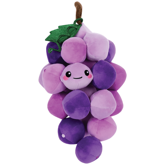Picture of Gary Grapes  Fleece and Glitter Pillow