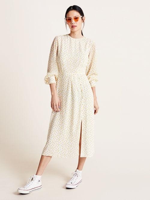1d5dc856909d Cream Ditsy Floral Georgie Midi Dress