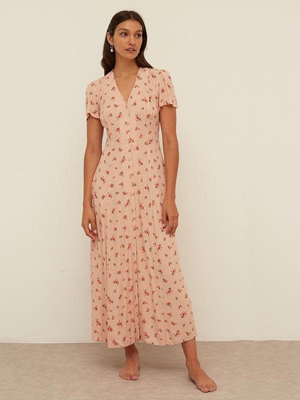 Pink Ditsy Leana Maxi Dress