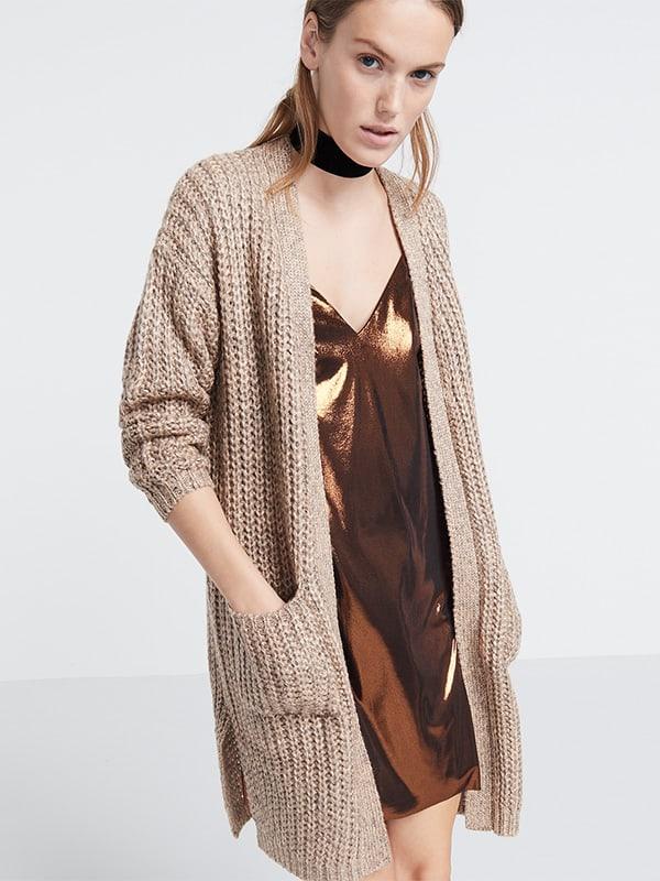 Blush chunky knit longline cardi