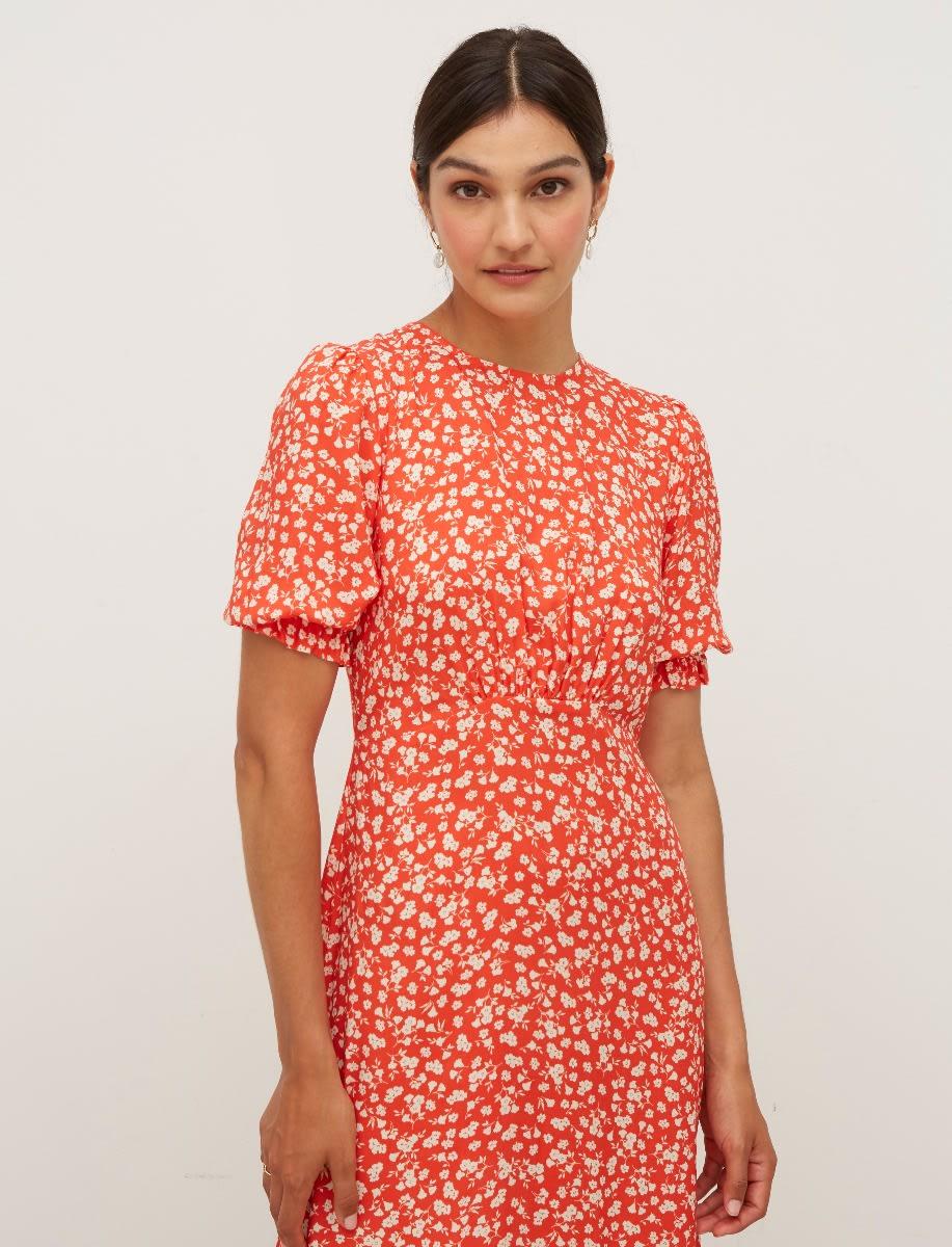 Selena Short Sleeve Midi Dress