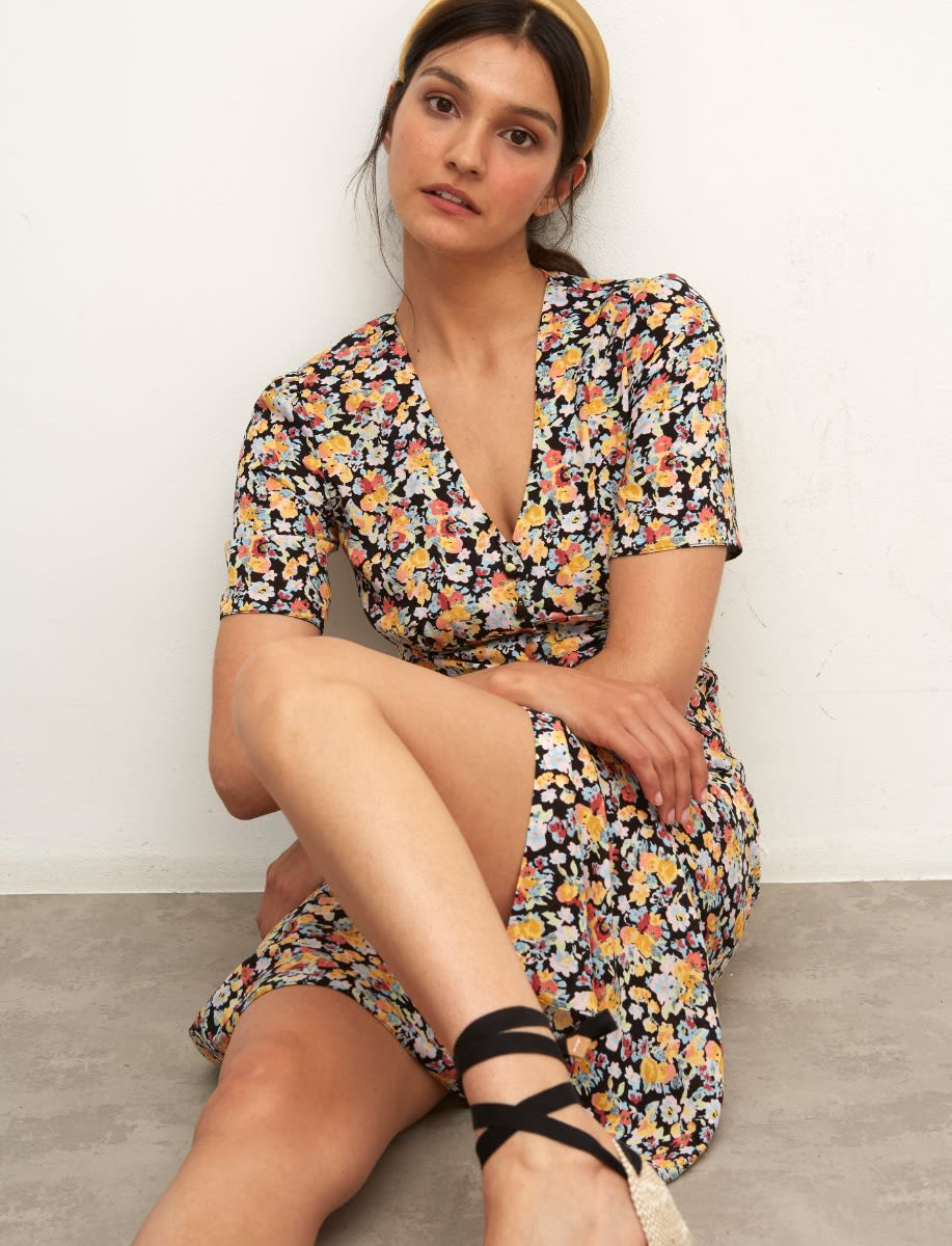 Lenzing Ecovero Multi Floral Alexa Midi Dress