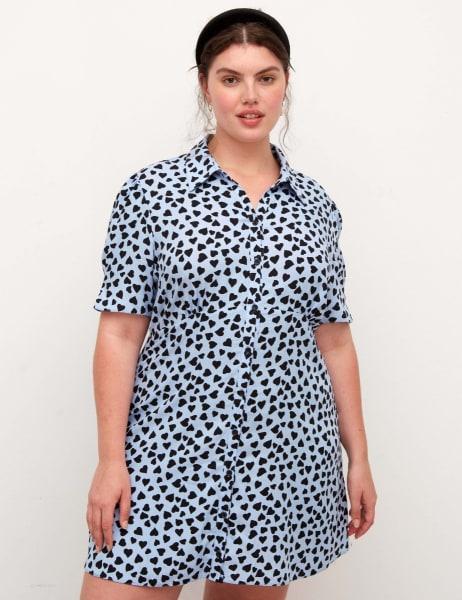 Curve Ellen Shirt Mini Dress