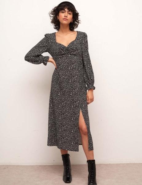 Rosie Long Sleeve Midi Dress