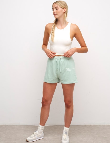 Embroidered Lounge Shorts
