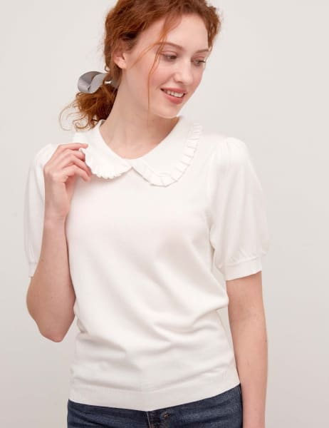 Knitted Collar Top