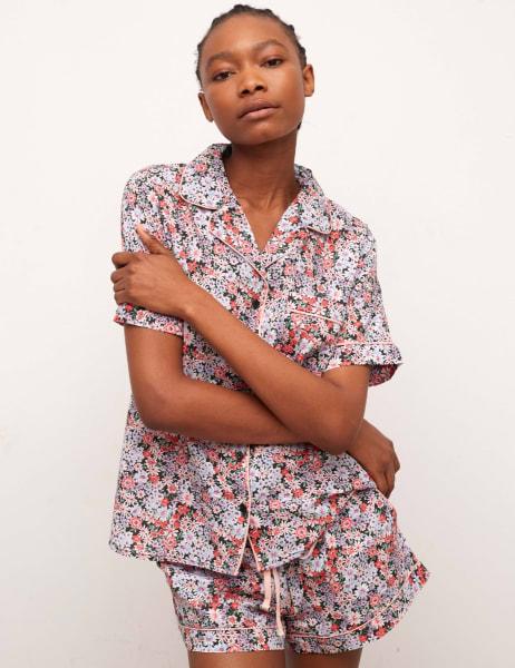 Daphenie Short Sleeve Pyjama Short Set