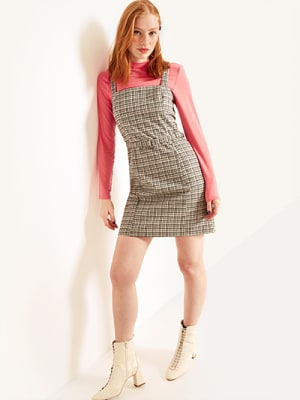 Grey Johnny Self Belt Mini Dress
